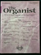The Organist Music Sheet Book For Church Services Jan-Feb 2010 32 Pages Easy