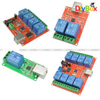 5V/10V USB Relay 1/2/4/8 ChProgrammable Computer Control Relay For Smart Home
