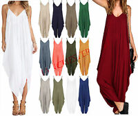 Ladies Womens Lagenlook Cami Strappy Baggy Harem Jumpsuit Playsuit Dress top8 26