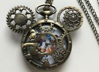 Mickey Mouse Pocket Watch Steampunk Gears Donald Duck Great Gift Easter Present