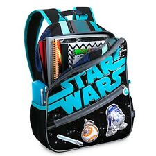 """Boy Girl STAR WARS BACKPACK Child Book Carry on Bag Disney Store Accessory 15"""""""