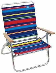 Rio 4 Position Easy In Easy Out Striped Beach Chair One Size