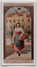 1700s Baked Goods London British Street Peddler Original 100+ Y/0 Trade Ad Card