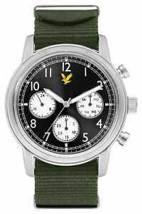 Lyle & Scott Mens Opdracht Groene Nato Riem LS-6005-02 Horloge