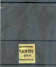 TAHITI Sc 3(YT 5)*F-VF LH 1884 10c/20c BRICK/GREEN, h/s ROUMET, $800