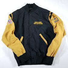 VTG FOX Sports NFL Light Jacket Button Up LARGE Black Tan Same Game New Attitude