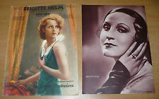 SUPPLEMENTO CINEMA ILLUSTRAZIONE N.2 BIS 1933 BRIGITTE HELM LA SUA VITA E I FILM