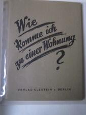 Berlin Archiv Edition 1201 E Wie komme ich zu einer Wohnung Flugschrift 1923