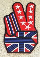 UNITED STATES v UNITED KINGDOM FLAG PATCH Victory Peace Rebel Badge USA UK