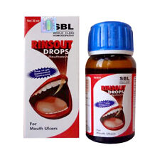 2X SBL Rinsout Drops (30ml)Useful in Mouth ulcers on cheeks with Pain