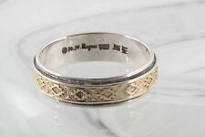 MY 14K STERLING SILVER MM ROGERS M.Y. NAVAJO BAND RING SIZE 12 925 SIGNED 0968