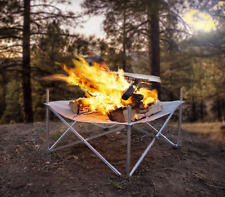 Portable Wood Burning Fire Pit Mesh Steel Carry Bag Rv Camping Beach Hiking New