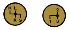 Aufkleber Label Sticker für Deutz Schaltschema D7006 Baureihe (3+4)