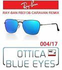 Occhiale da Sole RAYBAN RB3136 004/17 CARAVAN REMIX Sunglasses Ray Ban GUNMETAL