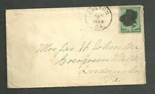 1889 Cover Sent From Dalton GA to Dailey VA