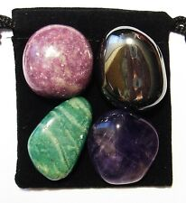ADD / ADHD RELIEF Tumbled Crystal Healing Set = 4 Stones + Pouch + Description