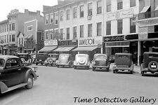 Vintage Cars on Main Street, Circleville, Ohio - 1938 - Historic Photo Print