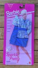 Barbie Sparkle Pretty Fashions Blue Party Dress With Sparkly Shoes 1993