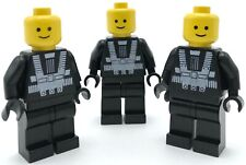 LEGO 3 BLACKTRON 1 MINIFIGURES NO HELMET SPACE FIGURES