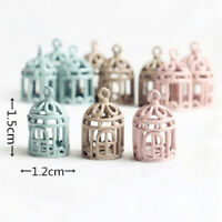 1:12 Dollhouse miniature metal bird cage doll house ornament birdcages TP