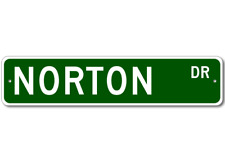 NORTON Street Sign - Personalized Last Name Sign