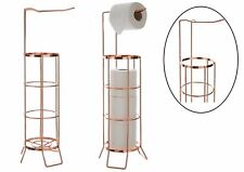 Copper Iron Wire Frame Toilet Paper Roll Holder 4 Roll Storer Holder Stand