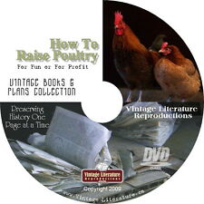How To Raise Poultry for Fun or Profit { 194 Vintage Books Library } on DVD