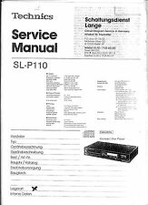 Technics CD Player SL-P110 Service Manual