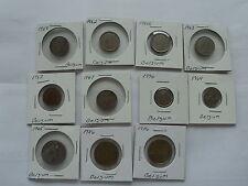Belgium Coin's Mixed lot of 11