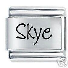 SKYE Name - 9mm Daisy Charm by JSC Fits Classic Size Italian Charms Bracelet