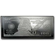 2014 4 oz $100 Bill Silver Bar - with Box and Certificate - SKU #80442