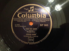 """GEORGES ULMER """"Caroline Cherie""""/""""Tout De Suite"""" 78rpm 10"""" 1951 Denmark NMINT+"""