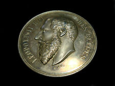 1895 BELGIUM LEOPOLD II EXPO MEDAL HORTICULTURE & AGRICULTURE