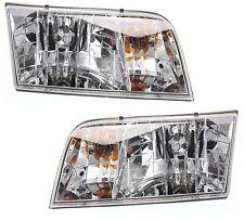 1998 - 2011 FORD CROWN VICTORIA HEADLIGHTS HEAD LIGHT LAMP LEFT & RIGHT SET 2PCS