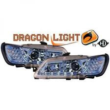 LHD Projector Headlights Pair LED Dragon Clear Chrome For Peugeot 306 93-97