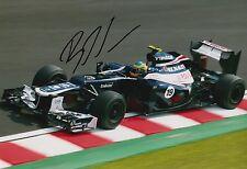 Bruno Senna Hand Signed 12x8 Photo Williams F1 10.