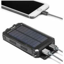 Groov-e GVCH8000SBK Portable Solar Charger Power bank with Dual USB - Black