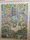 American Artist John Botz  signed 1990's flower print #99/350 framed