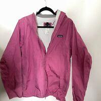 Patagonia H2No Full Zip Hooded Rain Jacket Pink Women's XL