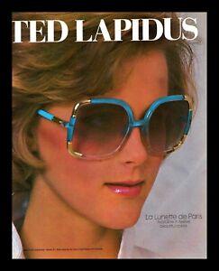 1984 Ted Lapidus Vintage Photo PRINT AD La Lunette De Paris Sunglasses Woman