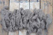 100g Natural Sheep Wool Fleece Felting Weaving Jacob Grey Taupe
