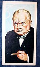 Sir Winston Churchill  British War Time Leader   Vintage Card  EXC