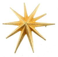 "Vintage Accesocraft Runway Raised Brush Gold Tone Brooch Statement Star Pin 3"""