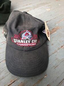 Vintage 2001 Colorado Avalanche Stanley Cup Champions Hat new era cap w tag