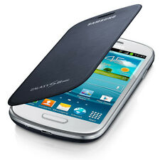 Genuine Samsung GT-i8200 Flip Case Cover for Galaxy S III S3 Mini - Pebble Blue