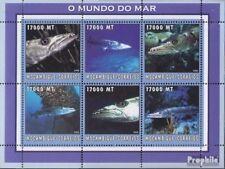 Mosambik 2620-2625 Velletje postfris MNH 2002 Wereld van Marine