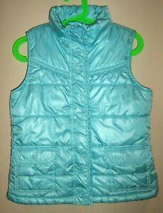 Gap Girls Sz XXL Fleece Lined Puffer Quilted Blue Winter Vest EXCELLENT