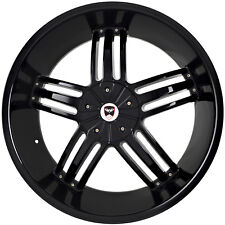 4 GWG Wheels 20 inch Black SPADE Rims fits NISSAN TITAN 2004 - 2014