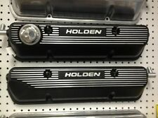 HOLDEN COMMODORE EFI 5.0L ALLOY ROCKER COVERS VN ON BLACK NEW VS VR 308