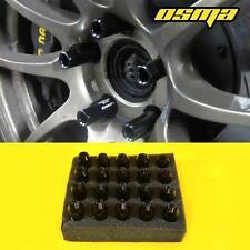 20pc Drag Racing Black Lug Nuts M12x1.5 60mm Celica MR2 IS 250 350 tC Genesis